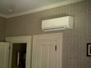 Ductless wall mounted